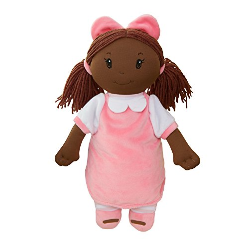 GiftsForYouNow Little Darlings Plush Baby Doll with Dark Complexion and Black Hair ()