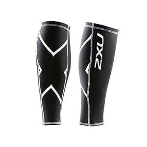 2XU Compression Calf Guards, Black/Black, XX-Small