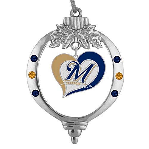(Final Touch Gifts Milwaukee Brewers Christmas Ornament )