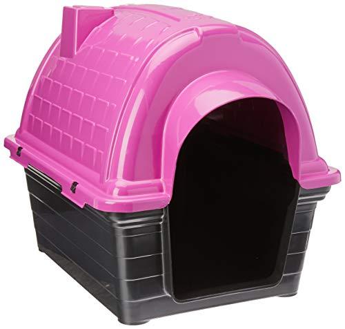 Casinha Plástica Furacão Pet Iglu N.1.0, Rosa Furacão Pet para Cães