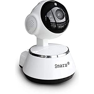 Smars® V380 Mini WiFi Wireless CCTV Home Security HD 720P IP Camera P2P Night Vision IR Surveillance Camera(Support Upto 64GB SD Card)