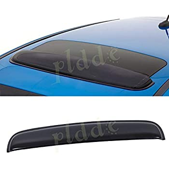 880 mm JDM Style Sun//Moon Roof Sunroof Moonroof Shade Guard Dark Smoke Tint Rain Vent Wind Deflector Auto Visor Mega Racer 35 in