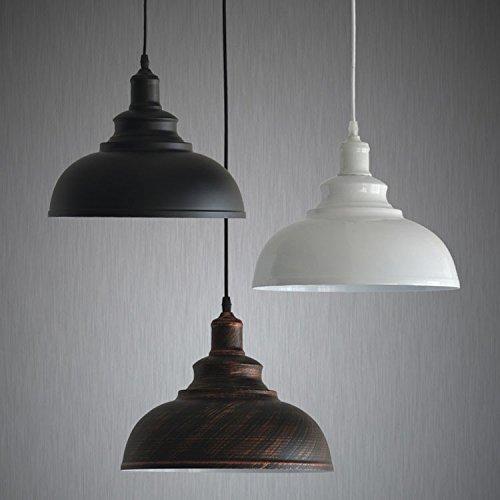 (Leihongthebox Single Head aluminum housing Pendant Ceiling Lights West Block dedicated Pendant Ceiling Lights retro industrial wind Pendant Ceiling Lights, black)