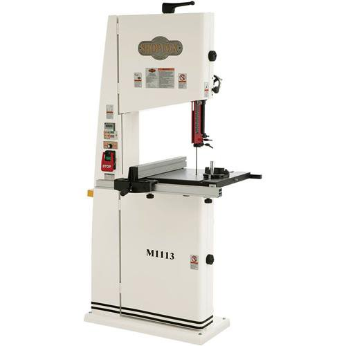 Left Tilting Table Saw - SHOP FOX M1113 Wood and Metal Bandsaw