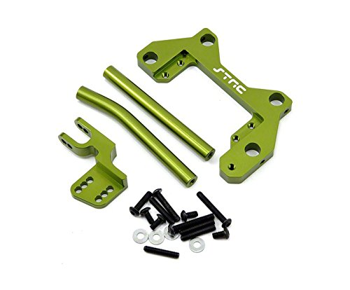 ST Racing Concepts STA30792PG Aluminum Off-Axle Servo Mount Panhard Kit for Axial Wraith with Hardware, Green