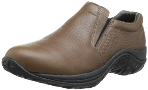 Merrell Men's Jungle Moc Leather Slip-On Shoe,Mahogany Brown,7.5 M ()