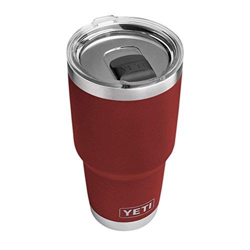 YETI Rambler 30 oz Stainless Steel Vacuum Insulated Tumbler, Brick Red