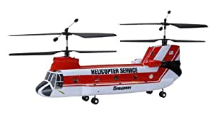 Graupner 4483 Micro Chinook RC - Helicóptero radio control con 4 canales (2,4 GHz)