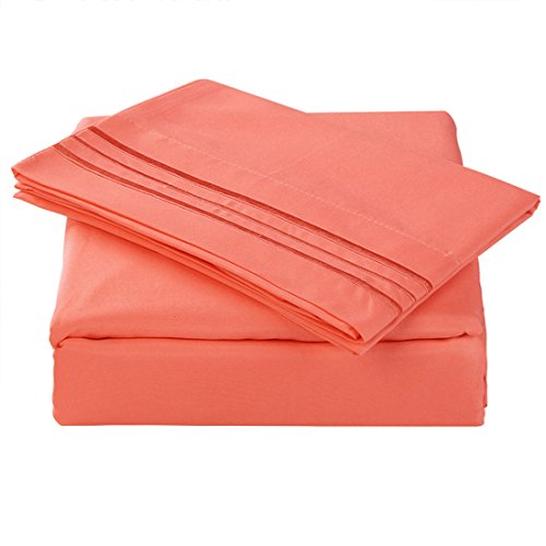 balichun microfiber bed sheet set super soft sheets with. Black Bedroom Furniture Sets. Home Design Ideas
