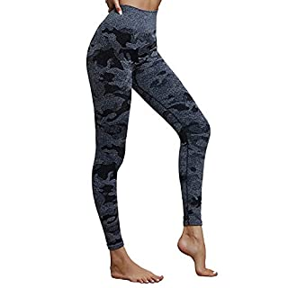 Witkey Leggings for Women, High Waist Tummy Control Butt Lift Seamless Yoga Leggings for Workout Running