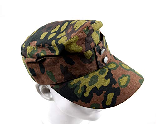(szwykw Replica WWII WW2 German Oak Spring Leaf hat Camo Cap (58cm))