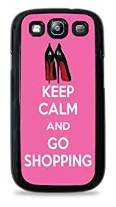 442 - Keep Calm and Go Shopping Louboutin Shoes - Black Silicone Case for Samsung Galaxy S3