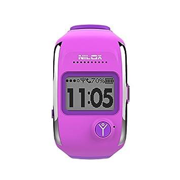 "Nilox Bodyguard 1"" LCD Púrpura Reloj Inteligente - Relojes Inteligentes (2,54 cm"