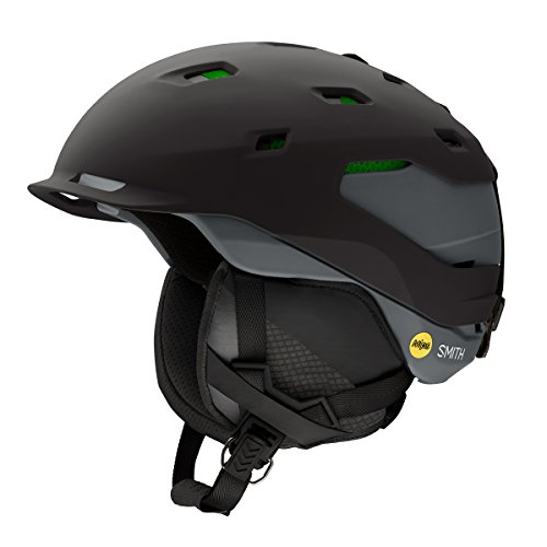 Smith Optics Quantum Adult MIPS Asian Fit Ski Snowmobile Helmet - Matte Black Charcoal / Large (Helmet Quantum Mens)