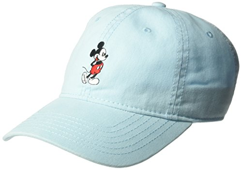 (Disney Unisex-Adult's Mickey Mouse Full Body Baseball Cap, Adjustable, Light Blue, One)