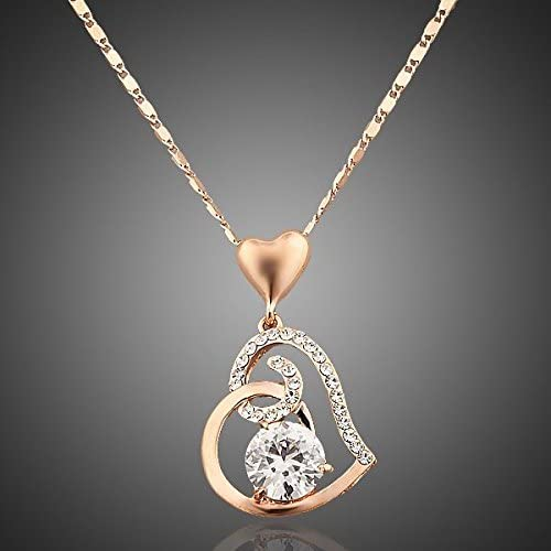 18k Rose Gold Plated Stellux Crystals Heart Pendant Necklace Price In Saudi Arabia Amazon Saudi Arabia Kanbkam