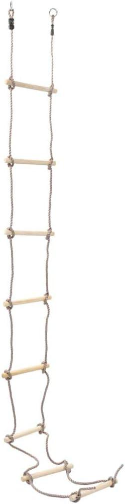 yorten Escalera de Cuerda de 8 Peldaños Escalera para Niños 290 cm Peldaños de Madera PE Cuerd: Amazon.es: Hogar
