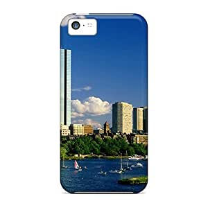 Fashion Protective Boston Buildings Beach Case Cover For Iphone 5c