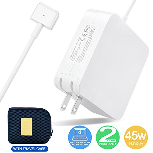 Macbook Air charger, 45W MagSafe Power Adapter with MagSafe