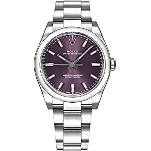 Best Epic Trends 41XMfQRrppL._SS300_ Rolex Oyster Prepetual Automatic Purple Grape Dial Stainless Steel Unisex Luxury Watch 114200RGSO