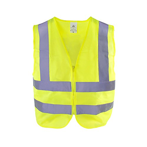 TR Industrial T802 Neon Safety Vest with Front Zipper Knitted, X-Large, Yellow