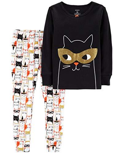 Carter's Baby Girls' 2-Piece Snug Fit Cotton Halloween PJs (12 Months, Black Cat) ()