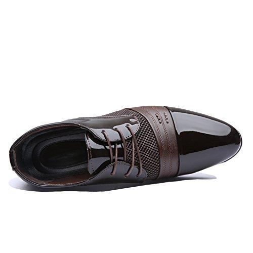 Cordones hombre BlivenerCasual Planos Zapatos marrón con xw8nCqpF4