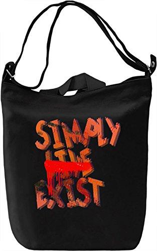 Simply Live Exist Borsa Giornaliera Canvas Canvas Day Bag| 100% Premium Cotton Canvas| DTG Printing|