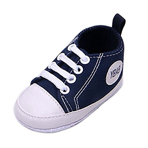 - Gorgeous Baby Gifts,Dealzip Inc Navy Blue Newborn Baby Boy Girl Soft Crib Canvas Sneaker Shoes 9-12 Months