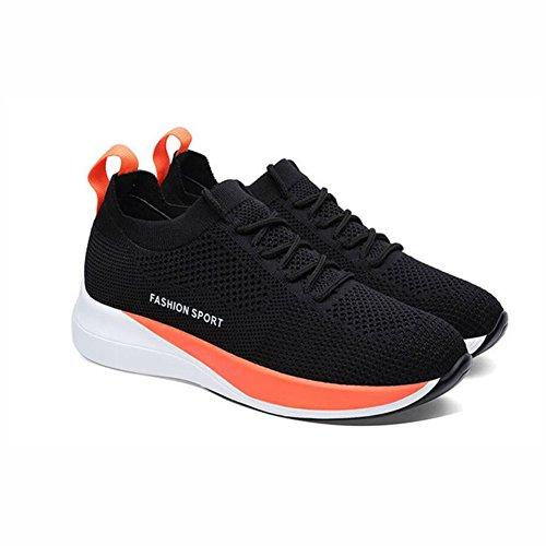 Athletische Koreanische Sport Athletische Laufende Art der Turnschuhe Leichten gehende Trainer Frauen des Weiseschuh Schuhe Flut und Leichten YaXuan greifens EIN Ineinander Schuhe 7Xnagg