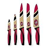 NFL San Francisco 49ers Kitchen Knives (Set of 5), Gold