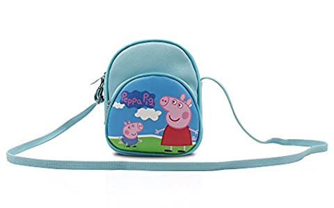 Finex Blue Peppa Pig Canvas Little Handbag Purse for kids toddlers preschoolers girls boys (Peppa Pig George Boots)