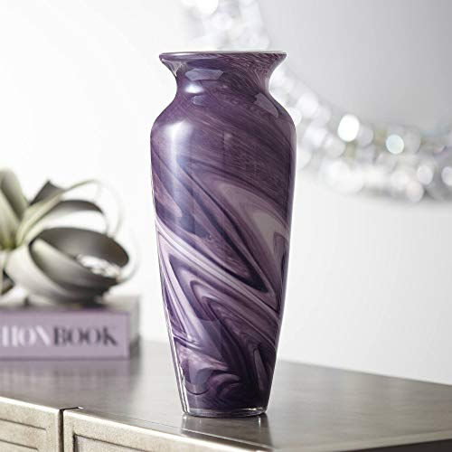 - Universal Lighting and Decor Barton Purple Swirl 12 1/2
