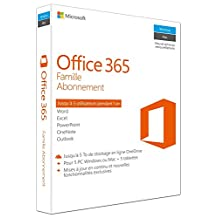 Microsoft Office 365 Home, 5 Pcs or Macs, 1-Year Subscription, French