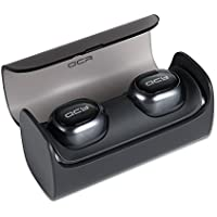 BOUPOWER QCY Q29 Mini V4.1 Bluetooth Stereo car Headphones with 12 hour Portable Charging case&Nose Canceling for Phone Call and Running (Dark Gray)