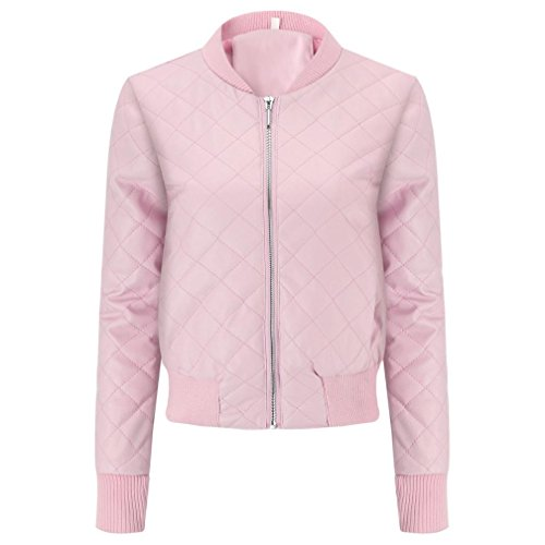 Coat Slim Lapel Winter Women Pink Jacket Fashion Colorful Jacket Blouse Top TM Overcoat Leather wq4px7a