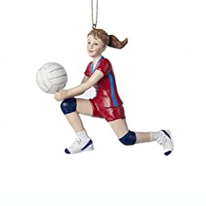 Kurt Adler Volleyball Girl Christmas Ornament
