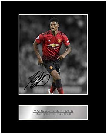 Marcus Rashford gesigneerd gemonteerd Photo Display Manchester United FC 3 gesigneerd cadeau foto afdrukken