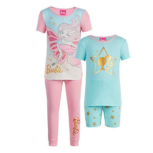 Barbie Toddler Girls' 4-Piece Pajama Set, Size 3T Pink