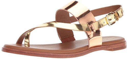 Cole Haan Flip Flops - Cole Haan Women's Anica Thong Flat Sandal, Rose Gold/Gold Specchio, 6.5 B US