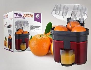 Exprimidor doble duo electrico zumo naranjas twin juicer: Amazon.es: Hogar