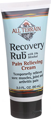 All Terrain Recovery Rub - 3 oz - 5 Percent Menthol - Pain Relieving Cream