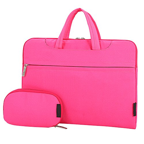Cuitan 13 13.3 Zoll Wasserdicht Nylon Notebooktasche für Apple MacBook Pro / Apple MacBook Air / Acer Aspire ES1-311 / Asus Zenbook UX305FA, Modisch Laptoptasche Laptophülle Tragetasche Aktentasche Schultertasche Umhängetasche Handtasche mit Power Tasche und Schulter Strap für 13 13.3 Zoll Notebook Ultrabook - Pink
