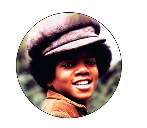 Michael Jackson Groovy Hat Pinback Button ()