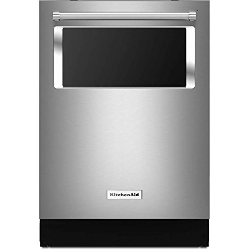 KitchenAid Built-In Dishwasher Stainless Steel 44 dBA with Window and Lighted Interior KDTM804ESS