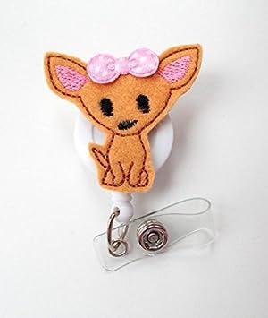 Nurse Healthcare Medical ID Clip or Lanyard I Love My Chihuahua Badge Reel Cute Retractable Badge Holder
