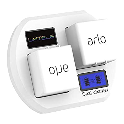 UMTELE Charging Station for Alro Rechargable Batteries - Dual Fast Charging Station with USB Cable for Arlo Security Light & Arlo Go & Alro Pro 2