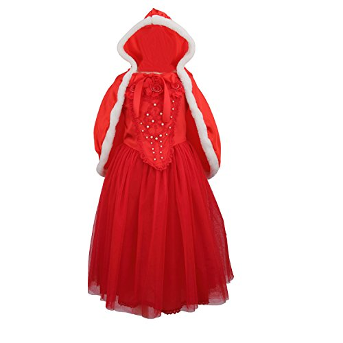Acediscoball Big Girls' Costume Cosplay Princess Party Fancy Dress Size 7 US Red
