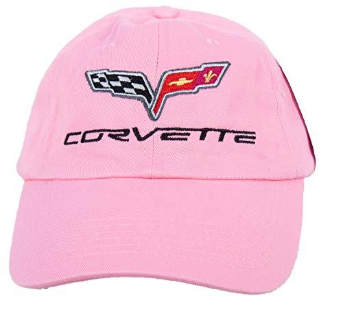 A&E Designs Corvette C6 Fine Embroidered Hat Cap, Pink