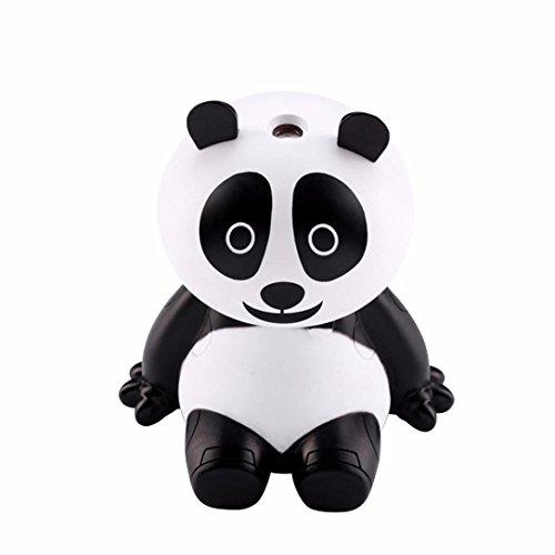 Panda Humidifier,Essential Oil Diffuser Aroma Essential Oil Cool Mist USB Humidifier (White) ()